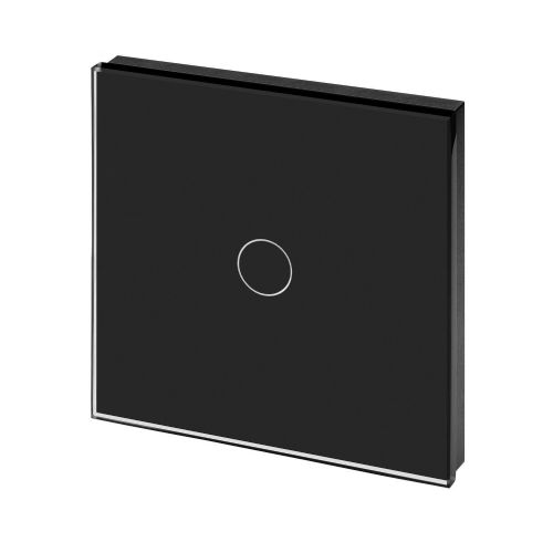 RetroTouch Touch On/Off Light Switch 1 Gang 1 Way Black Glass PG 00450